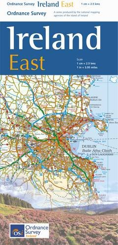 Os Map Of Ireland.The Ireland Holiday Map East Irish Maps Atlases And Guides
