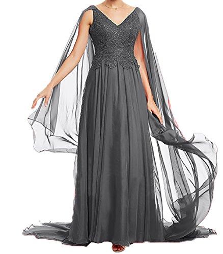 Festlichkleider Ballkleider Damen Grau Rock Charmant 2018 Abendkleider Langes Neu Brautmutterkleider A Linie Promkleider Xd0Udq