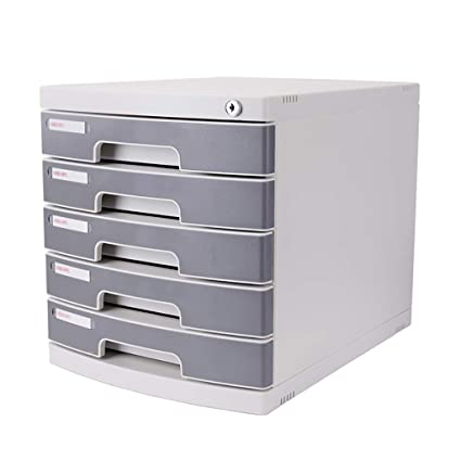 File Cabinets FiveLayer Plastic Drawer Type With Lock Office Storage Data  Box Types Of Filing Cabinets