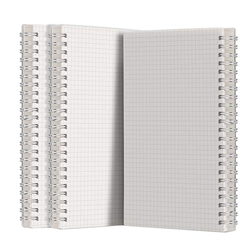 A5 Graph Paper Notebook Spiral (3-Pack)