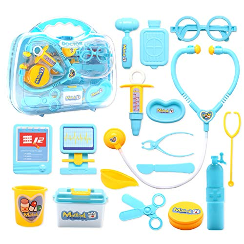 Conthfut Doctor kit for Kids, Toy Medical Kits 17 Pieces Pretend Play Doctor Playset Educational ToysBirthday Gift for Toddler Boys Girls ()