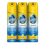 Pledge Dust & Allergen Multisurface Cleaner, Lemon, 9.7 oz, 3 ct