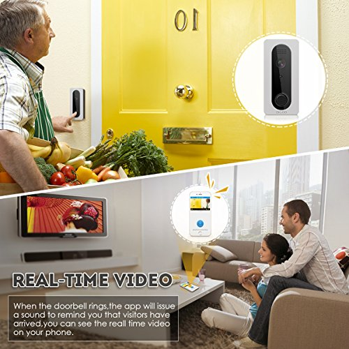 Wifi Video Doorbell, DIGOO SB-XYA 5 in 1 Ring Video Doorbell