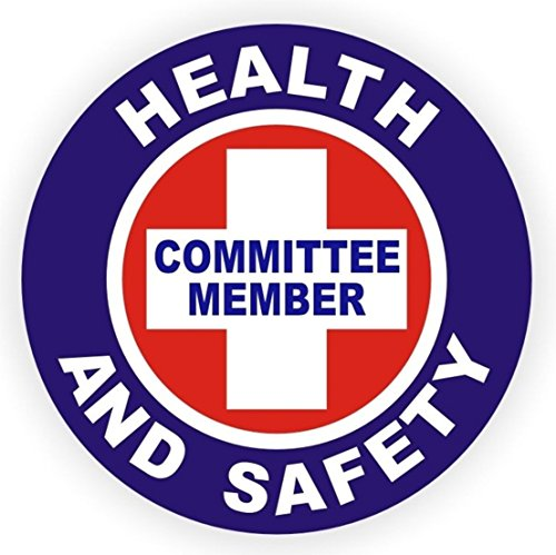 1-Pc Excelling Popular Health And Safety Committee Member Vinyl Stickers Health Helmet Electrical Arc Flash Size 2