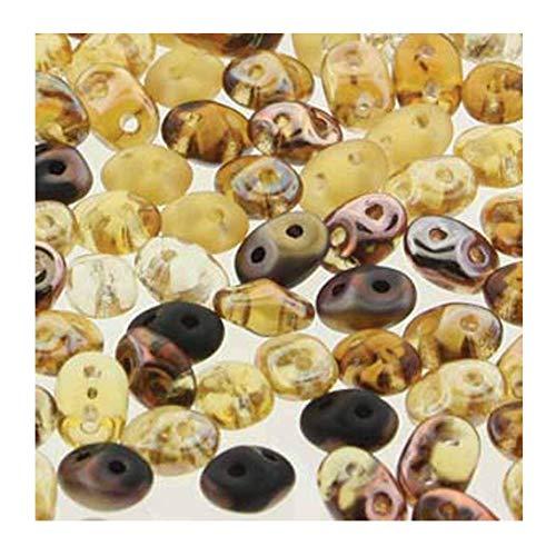 SuperDuo Wild Honey Mix 2.5x5mm 2 Hole Beads Czech Glass Seed Beads 100 Gram Bag