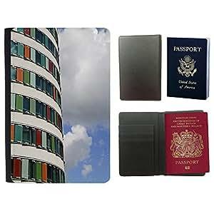 Passeport Voyage Couverture Protector // M00157229 La arquitectura moderna del rascacielos // Universal passport leather cover