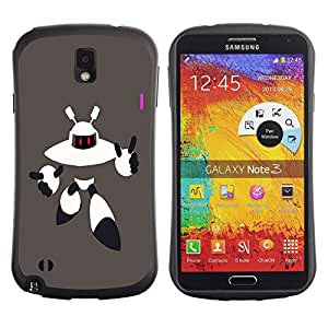 Suave TPU GEL Carcasa Funda Silicona Blando Estuche Caso de protección (para) Samsung Note 3 / CECELL Phone case / / Robot Alien /