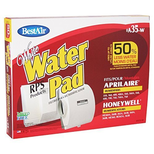 BestAir A35W Aprilaire 35 Paper Wick Waterpad, 6 Pack (Best Air Elite Water Pad)