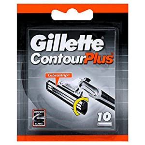 Original GILLTTE Contour Plus Cartridges - 10 Pack by Contour Plus