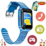 Kids Phone Watch - [Speedtalk SIM Included] Kids Smartwatch for 3-14 Year Boys Girls Camera Game Sport Outdoor Cellphone Watch Bracelet for Summer Holiday School Gift