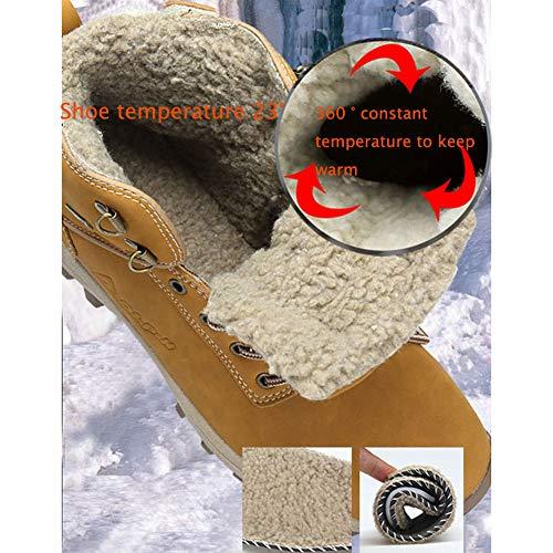 Invierno Senderismo Mujer Hombre Calientes Zapatillas Marrón Antideslizante Impermeables Botas Botines Trekking De Nieve Yq6YwnfHA