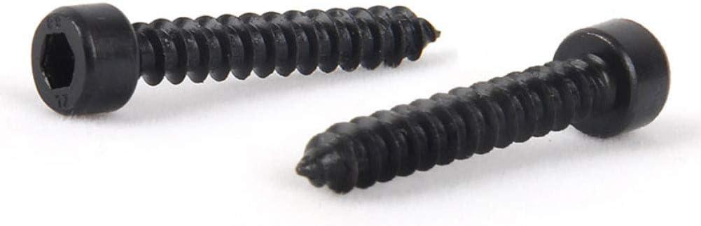 Xiedeai Acero Inoxidable Hex Socket Tornillos Herramientas Hexagonal Clavos Pernos Allen Cap Cabeza Perno Negro Tornillo Autorroscantes M3.5 M4 M5