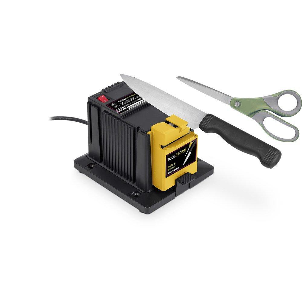 Amazon.com: TOOLSTORM Afilador de cuchillos eléctrico ...