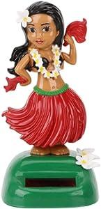 DZWYC Hawaiian Hula Girl Solar Dashboard Doll Hawaiian Dancing Girl Dashboard Doll Solar Powered Hawaiian Hula Girl