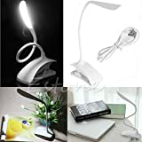 abyss beer - EUTTEUM LED Clip-On Desk Table Rechargeable Touch Sensor Dimmable Reading Light Lamp