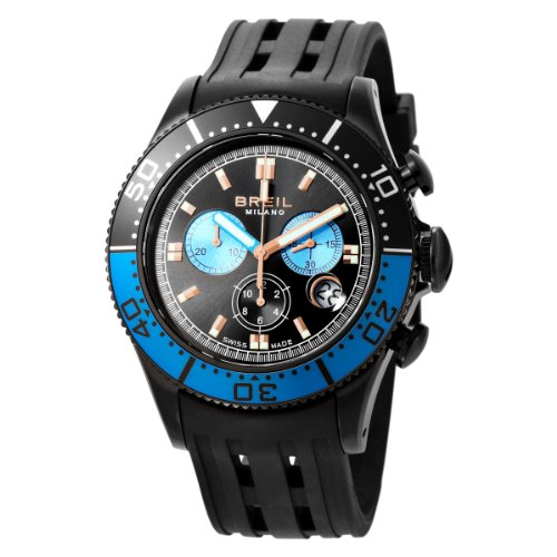 Breil Milano Men's BW0407 Manta Analog Black Dial Watch