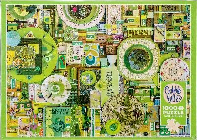 Green 1000 Piece Puzzle - Outset Media Jigsaw Puzzle 1000 Pieces 26.625