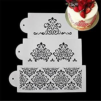 valink 3 piezas Corona Rey Princesa Reina forma diseño de galletas Fondant molde para hornear magdalenas para tartas diseño de molde para decoración de ...