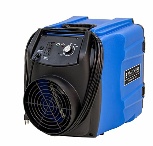 Portable Air Scrubber by Abatement Technologies Mobile HEPA Filtration Device Great for Containing Airbourne Dust Cleans Freshens Purifies Air Ideal for Commercial Use by Contractors