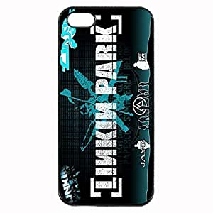 Black LP linkin park Custom Image Case iphone 4 case , iphone 4S case, Diy Durable Hard Case Cover for iPhone 4 4S , High Quality Plastic Case By Argelis-sky, Black Case New