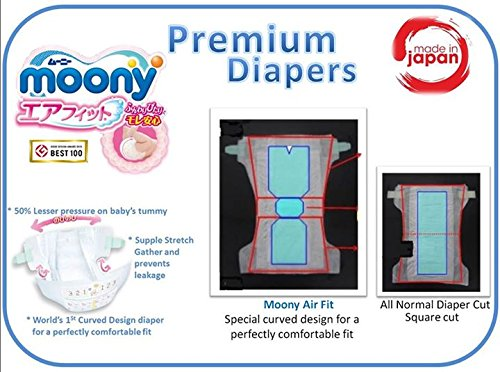 Pañales japoneses Moony NB (New Born) - Baby (hasta 5 kg)//Japanese nappies Moony NB (new born) 0-5 kg // Японские подгузники Moony NB (new born) 0-5 kg: ...