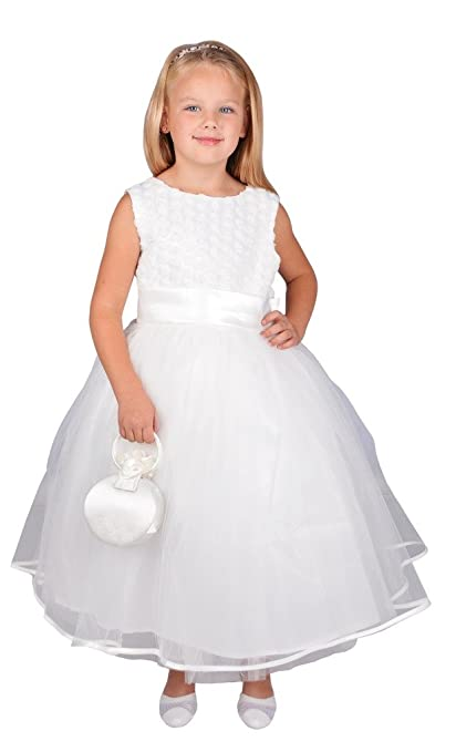 Jessidress Vestido de Comunion Vestido de Boda Vestido de Ceremonia Vestida de Novia Niña de Arras