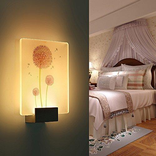 Wandleuchte Led, Kreative moderne Wohnzimmer Schlafzimmer Nachttischlampe Treppe Flurlampe rechteckig (Stil  A)