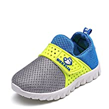 LINE BLUE Kids Breathable Fashion Slip-on Sneakers for Autumn and Winter (Toddler / Little Kid)
