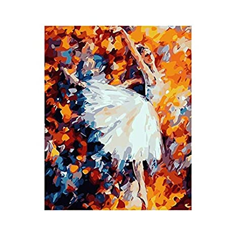 Amazon Com Cher9 Frameless Dancer Diy Digital Oil Painting By