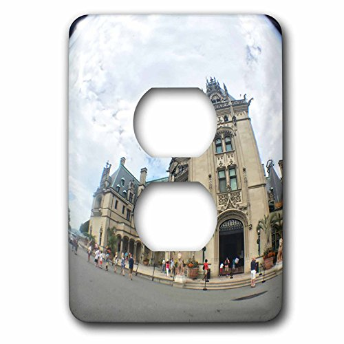 Lenas Photos - Travel - Fish Eye View of Biltmore Estate - Light Switch Covers - 2 plug outlet cover (lsp_235614_6) by 3dRose