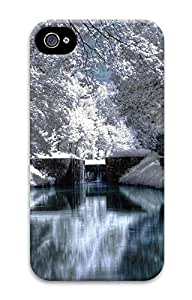 iPhone 4 4S Case Blanketed Landscape 3D Custom iPhone 4 4S Case Cover