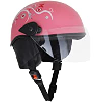 Sage Square Aero Half Helmet (Pink Glossy) (With Decal) (Large)