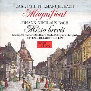 Sale special price C.P.E. Quantity limited Bach: Magnificat Missa J.N. Brevis