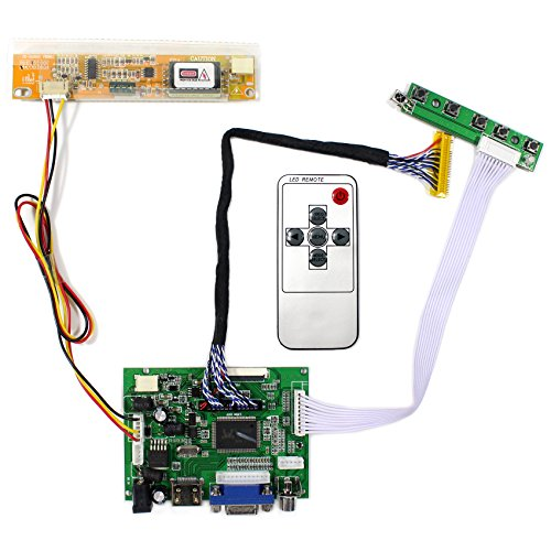 - VSDISPLAY HDMI+VGA+2AV LCD Controller Board Work For 15.4