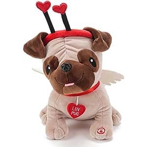Amazon Com Hallmark Luv Pug Plush Stuffed Animal With Sound