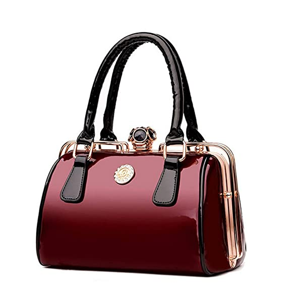 cfd82fc93a0dd Mzdpp Mode Frauen Messenger Bags Casual Tote Luxus Rahmen Lackleder Taschen  Designer Tasche Hohe Qualität Handtaschen   Crossbody Taschen Schwarz  ...