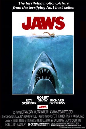 Laminated Jaws Poster 24 x 36in