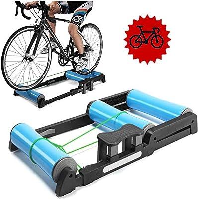 FHUILI Entrenador de Bicicleta Plegable - Rodillos de Bicicleta Bicicleta Plegable Entrenador de Soporte de Entrenamiento Bicicleta MTB Rodillo Ciclismo Carretera Ejercicio Resistencia Bicicleta,A: Amazon.es: Deportes y aire libre