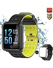 CanMixs Montre Connectée Bracelet Connecté Podometre, CM11 Cardiofréquencemètre Tracker d'Activité Bracelet Sport Etanche IP68 Smartwatch Sport Running Sommeil Calorie pour iOS Android Huawei Samsung
