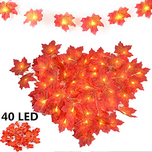 KAILEDI Halloween String Lights, LED Pumpkin Lights, Holiday Lights for Outdoor Decor,2 Modes Steady/Flickering Lights(20 One Pumpkin Lights, 9.8 feet)