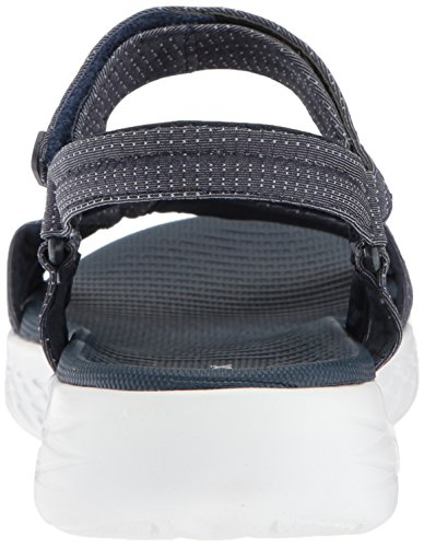 On Con Mujer navy Sandalia Pulsera Para the go 600 Azul Skechers brilliancy OnxqFdqw