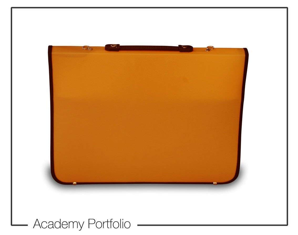 Artcare 15212240 94 x 66,5 x 4 cm, materiale sintetico Academy-Cartella formato A1, colore: arancione Mapac 15211310