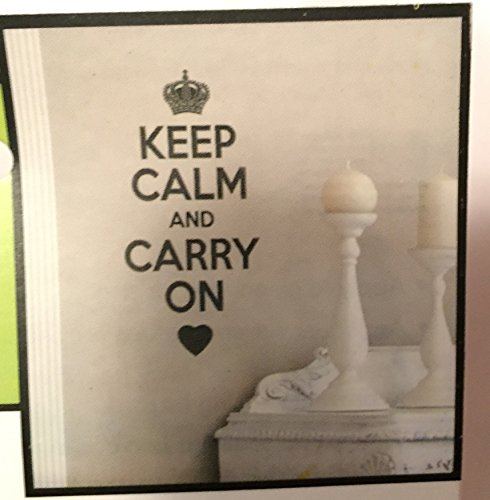 Keep Calm and Carry on Wall Decal Sticker (Wall Decals Keep Calm compare prices)