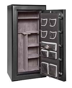 Winchester Silverado Premier 23-7-E Gun Safe; 24 Gun Capacity (Black) (Electronic Lock)