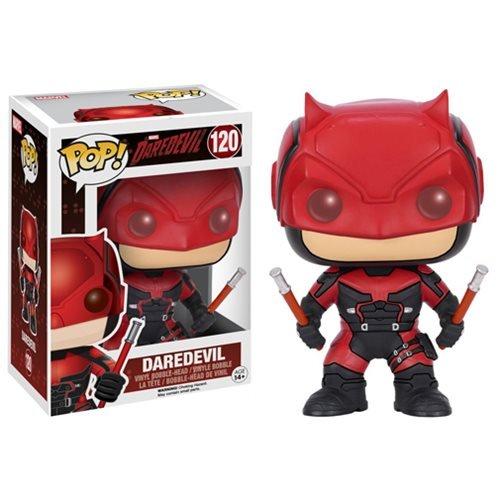 [Daredevil Red Suit Funko Pop Vinyl Figure with Box Protector] (Jessica Jones Marvel Costume)