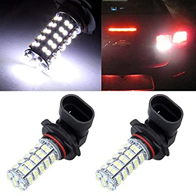 CCIYU 2 Pack White 9140 9145 9050 H10 9005 LED Projector Bulbs for 2003 2004 2005 2006 2007 2008 2009 2010 2011 2012 Honda Accord DRL Light Headlight Bulb High Beam Light