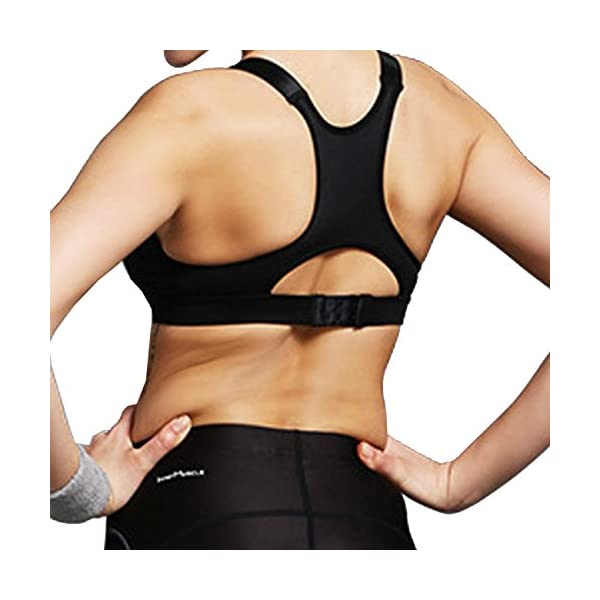 79595afb75a Newlashua Women s High Support Plus Size Zip Front Close Padded Sports Bra  ...