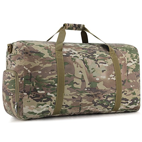 Gonex 80L Foldable Travel Duffle Bag, Overnight/Weekend Bag Luggage Duffle(Multicam)