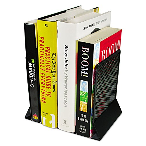 Artistic ART20008 Urban Collection Punched Metal Bookends, 6 1/2 x 6 1/2 x 5 1/2, Black (Metal Black Punched)