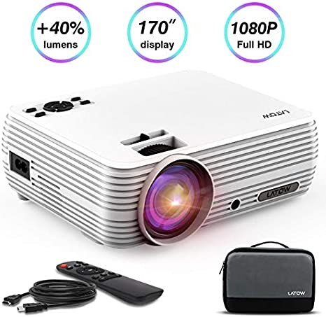 Full HD Proyector, latow X8 mini 1080p viedeo lámpara de 2000: 1 ...
